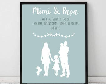 Personalised Family Silhouette Print
