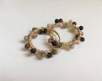 Tourmaline Bubble Earrings (Bead Collection)