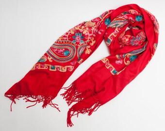 pashmina cashmere scarf shawl ethnic embroidery