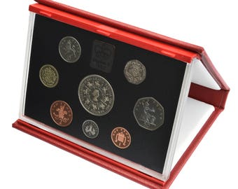 1993 Royal Mint Proof Set Red Leather Deluxe