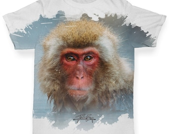 Red Faced Spider Monkey Baby Toddler Printed ALL-OVER PRINT Baby T-shirt