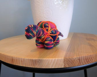 Crochet Dinosaur Puzzle Ball, Desk Toy, Stress Ball, Colleague Gift, Handmade Office Play