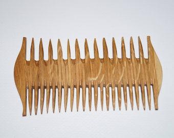 Wooden comb Beautiful comb Comb natural wood Comb hair Comb oak wood Wood comb gift Women comb Handmade comb Natural hair care Woodworking