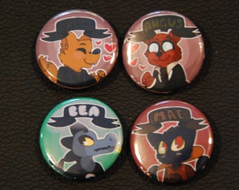 Night in the Woods (NITW) 1.25inch Pinback Button Set