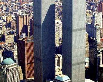 Aerial View of the World Trade Center in March, 2001 - 8X10 or 11X14 Photo (FB-369)