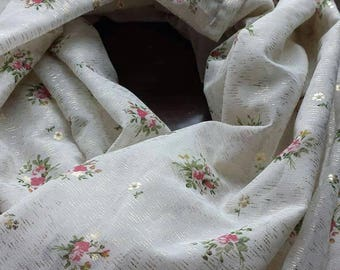 Silk scarf, silk floral scarf, silk infinity scarf, infinity scarf, floral infinity scarf, golden scarf, golden tinsel