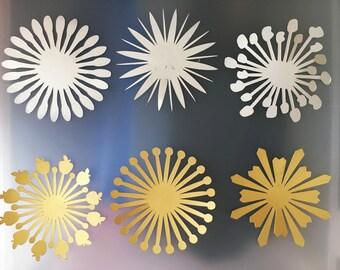 Precut paper flower centers (1 dozen per set)