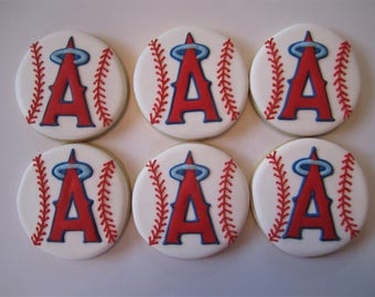 LA Angels baseball Cookies