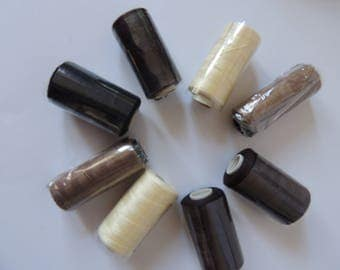 Hair Extension thread, weave threads x 4 , 10 c needles, 1 un picker