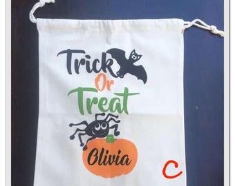 Trick or treat bag canvas trick or treat bag canvas drawstring sack