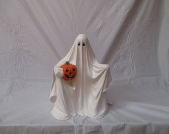 A ceramic bisque ghost