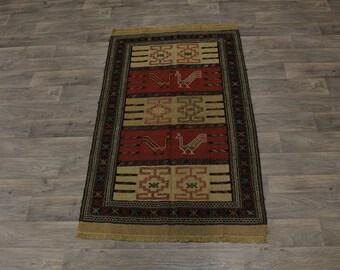 Excellent Original Hand Woven Tribal Sumak Persian Area Rug Oriental Carpet 4X6