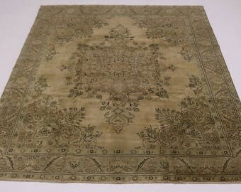 Genuine Antique Washed Muted Tabriz Persian Wool Rug Oriental Area Carpet 10X13