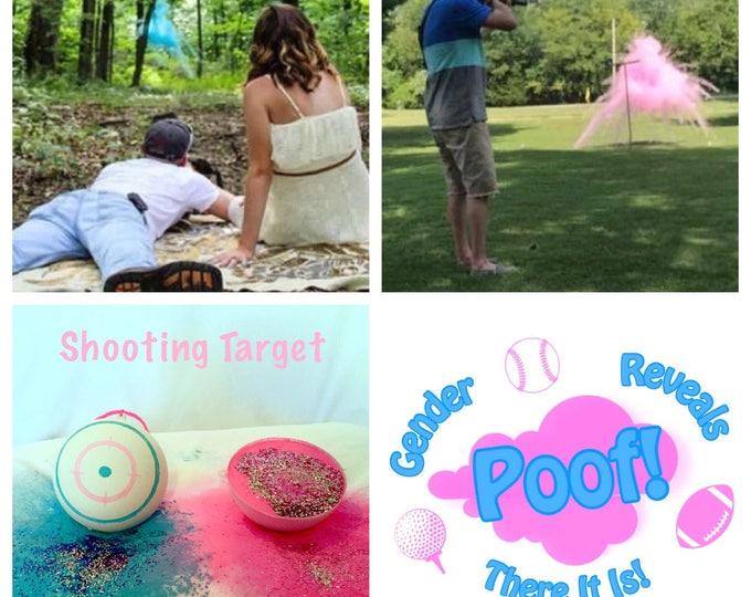 SALE Shooting Target Gender Reveal Balls Gender Reveal Shooting Target