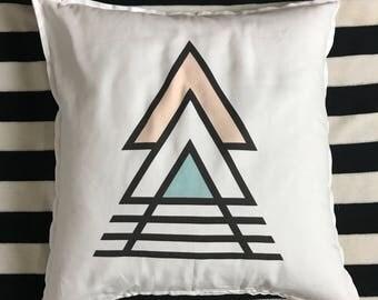 Triangular Geometric Pillow
