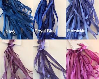 4 mm Hand Dyed Silk Ribbon