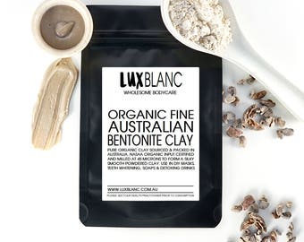 100% Australian Bentonite Clay   Food Grade   For Face Masks   Pure   Scrubs   50g 100g 200g
