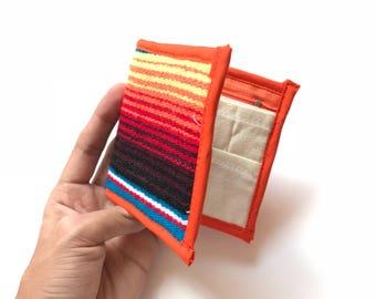 Serape purse, mexican wallet, mexican coin purse, coin purse, change wallet, serape blanket, mexican purse, mexico zipper pouch,
