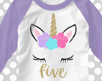 5th svg, birthday SVG, unicorn, five svg, birthday svg, 5 svg, birthday svg, iron on, svgs , unicorn birthday, 5th birthday, shortsandlemons