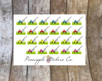 Lawn mower Planner stickers