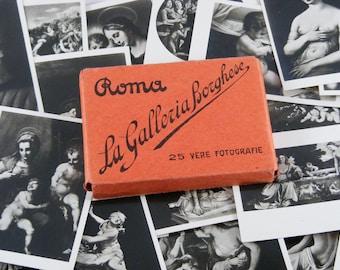 Italian Vintage 1930s Photo Souvenir La Galleria Borghese 25 Vere Fotografie Rome Mini Photos Of Art FREE SHIPPING