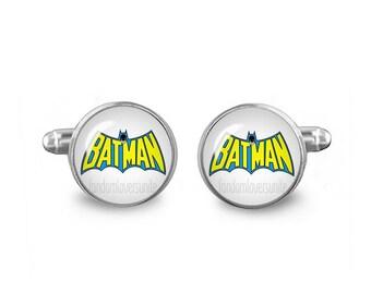 Batman Cuff Links Batman Cufflinks 16mm Cufflinks Gift for Men Groomsmen Novelty Cuff links Fandom Jewelry