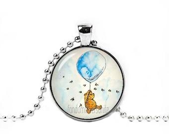 Winnie the Pooh Pendant Winnie Pooh Balloon Necklace Classic Winnie the Pooh Jewelry