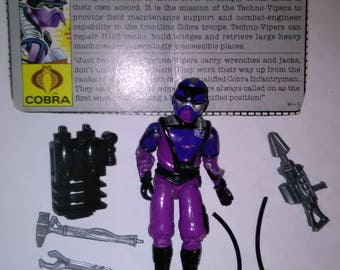 Vintage GI Joe Action Figure Techno-Viper  ***1980's-Early 1990's****** Check Out My other Listings