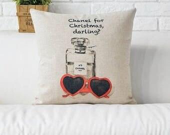Chanel Christmas inspiriert Kissenbezug