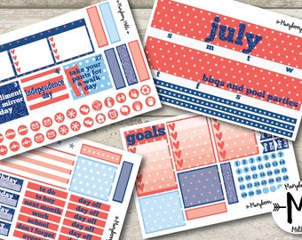 July 2017 Monthly Spread for use with Erin Condren LifePlanner™