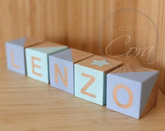 Personalized wooden cubes