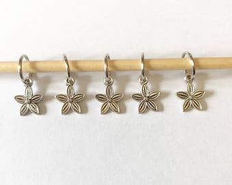Stitch markers for knitting (set of 5)