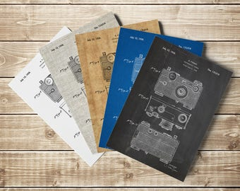 Camera Art Poster, Vintage Camera, Camera Poster, Retro Camera, Vintage Camera Decor,Camera Patent Poster,Camera Blueprint, INSTANT DOWNLOAD