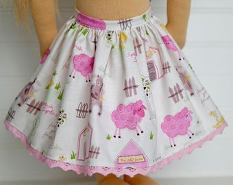 Farm DOLL skirt