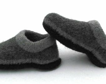 Felted Wool Slippers House Shoes Warm Woman Alaskan Gift Knit Made to Order Alaska