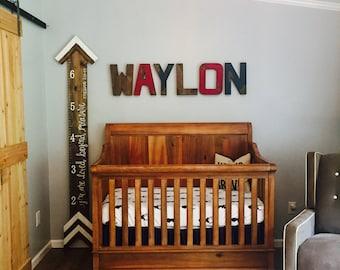 Boy Nursery Letters - Rustic Nursery Letters - Personalized Letters - Woodland Nursery Letters - Custom Nursery Letters -  Baby Boy Nursery