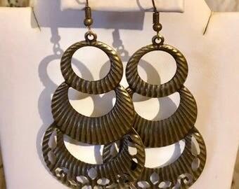 Bronze Ornate Earrings
