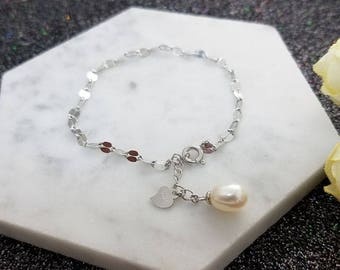 1 piece solid sterling silver bracelet setting, bracelet mounting, bracelet blank without pearl, jewelry DIY, gift DIY
