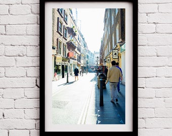 Streets of London, Large Travel Print, London England, England Hat Shop, London Photo, Office Photo Art, Street Photography, London Print