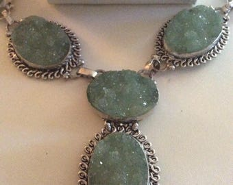 925 Silver Necklace With Stones