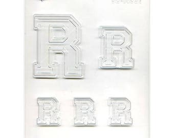 "Collegiate Letter ""R"" Chocolate Candy Mold"
