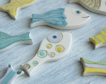 Minnows ceramic magnets