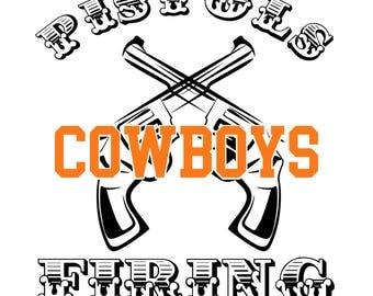 OSU Cowboys SVG | Pistols Firing | Cut File | Cutting File | Stillwater Cowboys | Personal Use Only