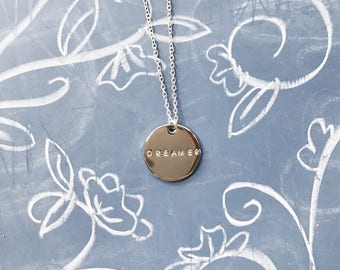 Dreamer Necklace // Disc Necklace // Disney Necklace