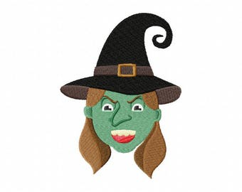 Witch Halloween embroidery design