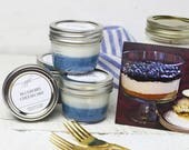 Blueberry Cheesecake Candle | Mason Jar Candles | Food Gift | Container Candles | Homemade Candles | Dessert Scented Candle | 4oz Candle