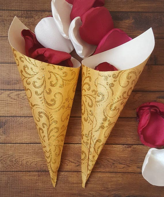how to make paper favor cones