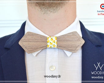 "Wooden Bow Tie,""Tunis III"", Gift for men, Groomsmen gift, Wedding, Birthday gift, Christmas gift, Handmade, Wooden bowtie, Woodiny"