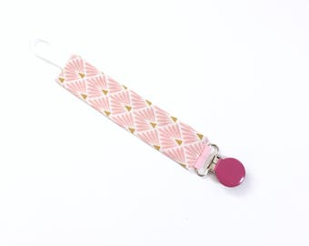 Pacifier baby pink and gold spikes