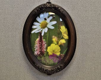 Oval Picture Frame 5x7 With Convex Bubble Glass
